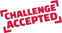 Challenge Accepted stamp Stock Illustration