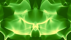 Green Mirrored Visual Vj Loop Stock Footage