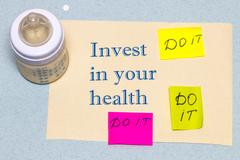Invest in your health - the concept of a healthy lifestyle Stock Photos