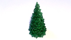 The toy of the christmas tree isolated on white looped Stock Footage