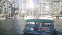 Aquabus at Granville Island Public Market - Winter Stock Footage
