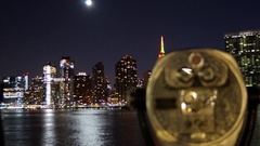 Dynamic Time-lapse of the Midtown Manhattan Skyline and Empire State Building Stock Footage