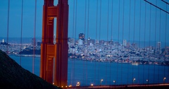 Golden Gate Bridge from Dusk to Night Stock Footage
