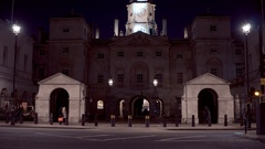 Horse Guards Parade in London at night Stock Footage