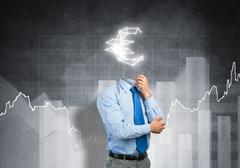 He is always thinking about money Stock Photos