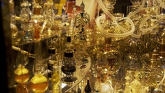 Aromatic Oil and Perfume in Arabic Shop. Sharm El Sheikh, Egypt Stock Footage