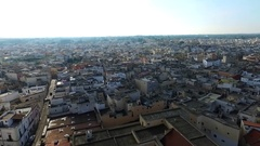 Puglia city. Ancient town of Salento Stock Footage