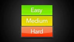 Easy Medium Hard Looping Seamless Video Game Screen-Arrow on Hard Stock Footage
