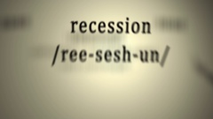 Definition: Recession Stock Footage