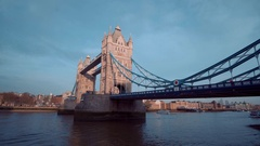 Most famous landmark in London - The Tower Bridge Stock Footage