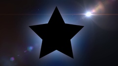 Black star on abstract motion background Stock Footage