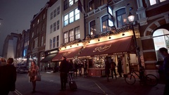 Famous Rules Restaurant in London Stock Footage
