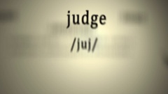 Definition: Judge Stock Footage