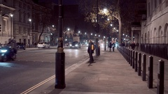 London street view Whitehall Stock Footage