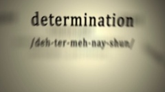 Definition: Determination Stock Footage