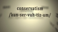 Definition: Conservatism Stock Footage
