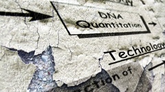DNA techology grunge concept Stock Footage