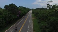Aerial View of Sao Sebastiao Coast, Sao Paulo, Brazil Stock Footage