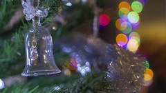 Christmas tree with a bell Stock Footage