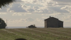 House on the hill Stock Footage
