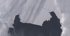 Aerial time lapse of ice sheet loss (calving), Pine Island Glacier, Antarctica  Stock Footage