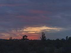 4K Cine arizona super colorful winter sunset over tucson time lapse Stock Footage