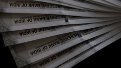New Indian Currency Stock Footage