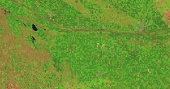 Aerial time lapse of simulated drought in Nebraska farmland  Stock Footage