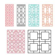 Chinese ornament for door, window, wall and fence Stock Illustration