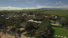 Pai'a Town - Main Street - Fly Over Stock Footage