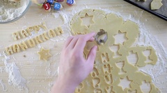 Step by Step. Making homemade gluten free sugar Hanukkah cookies. Stock Footage
