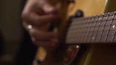 Guitarists hands close-up Stock Footage