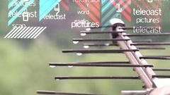 Antenna. Air digital TV and radio signal. Illustration Stock Footage