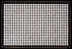 Led panel consisting of 900 white diodes Stock Photos