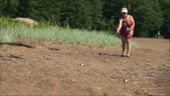 Petanque game on the beach Stock Footage