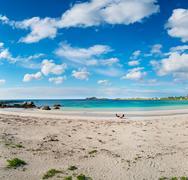 Beach Lofoten archipelago islands beach Stock Photos