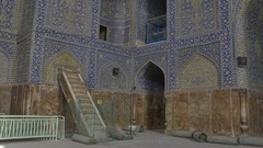 Shah Mosque interior Stock Footage