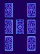 Relationship tarot spread. Tarot cards back side Stock Illustration