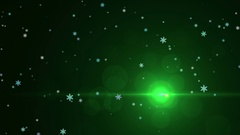 Christmas Tree Light Particles Stock Footage
