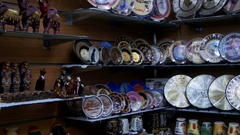 Shop with Souvenirs in Sharm El Sheikh, Egypt Stock Footage