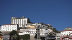 Porto, Portugal slow tracking movement with  view of architecture and scenery. Stock Footage
