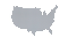 USA Dot Map. Concept for Networking, Technology and Connections. Motion Graphic Stock Footage