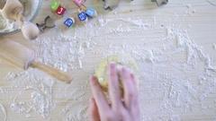 Step by Step. Making homemade gluten free sugar Hanukkah cookies. Stock Footage