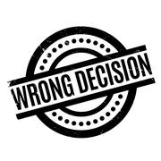 Wrong Decision rubber stamp Stock Illustration