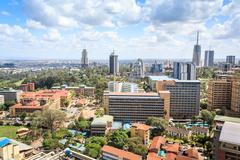 Nairobi cityscape - capital city of Kenya Stock Photos