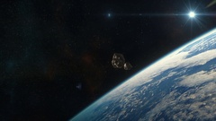 Asteroids Approaching Earth Stock Footage