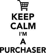 Keep calm I am a Purchaser Stock Illustration