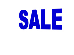 Bouncing Blue Sale Sign Stock Footage