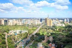 Nairobi cityscape - capital city of Kenya Stock Photos