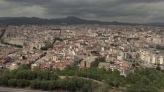 Aerial drone Terrassa Sant Llorenç Stock Footage